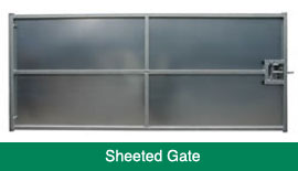 sheeted galvanised gate
